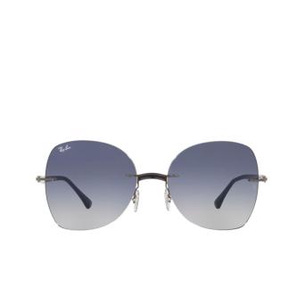 Ray-Ban® Irregular Sunglasses: RB8066 color Blue On Gunmetal 004/4L.