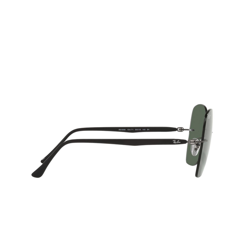 Ray-Ban® Irregular Sunglasses: RB8066 color Black On Sanding Gunmetal 154/71.