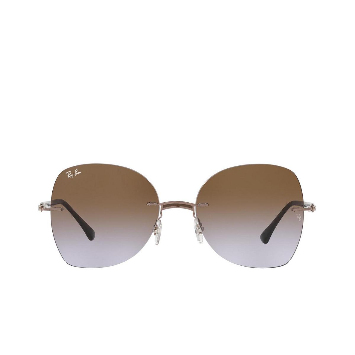 Ray-Ban® Irregular Sunglasses: RB8066 color Brown On Light Brown 155/68.