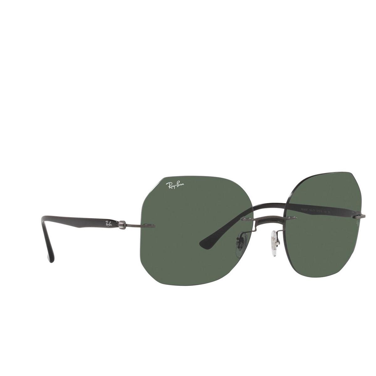 Ray-Ban® Irregular Sunglasses: RB8067 color Black On Sanding Gunmetal 154/71 - 2/3.