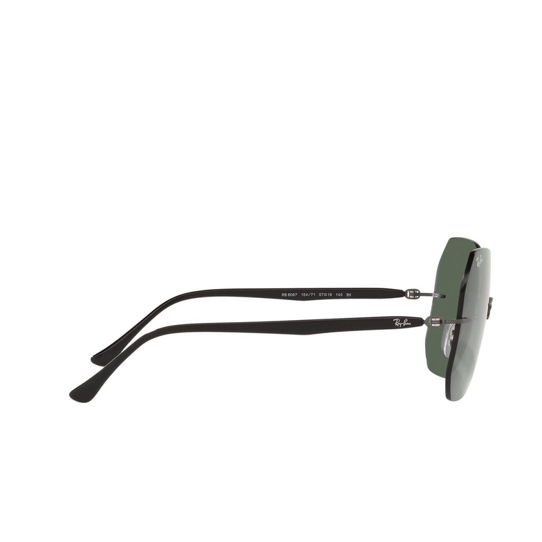 Ray-Ban® Irregular Sunglasses: RB8067 color Black On Sanding Gunmetal 154/71.