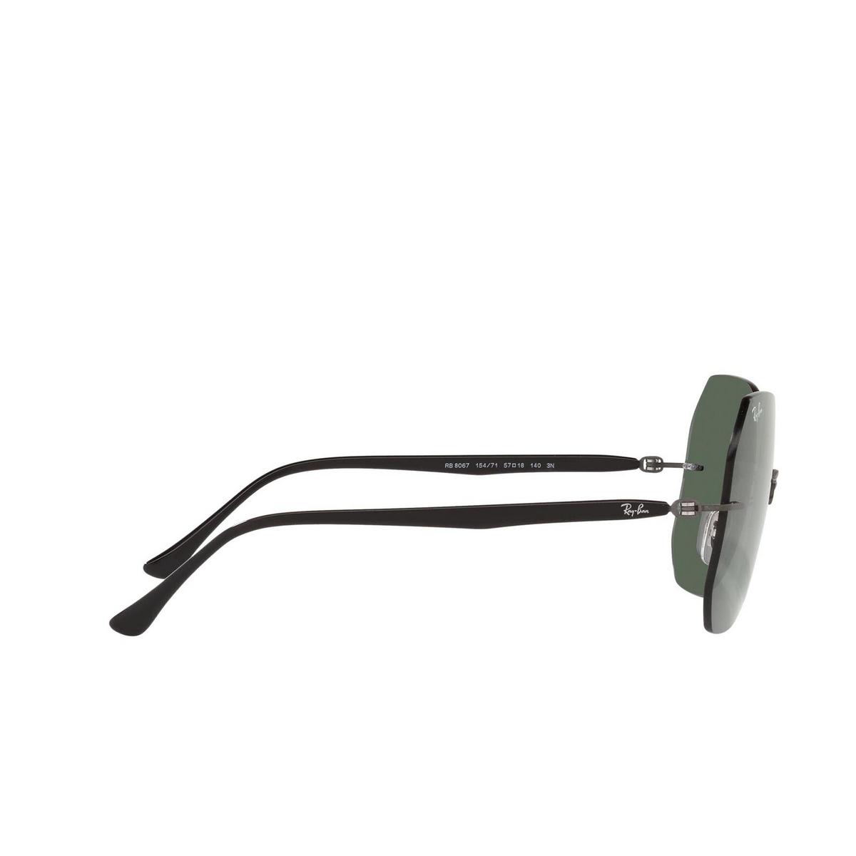 Ray-Ban® Irregular Sunglasses: RB8067 color Black On Sanding Gunmetal 154/71 - 3/3.