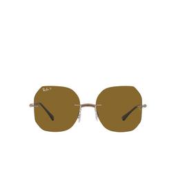 Ray-Ban® Irregular Sunglasses: RB8067 color Brown On Light Brown 155/83.