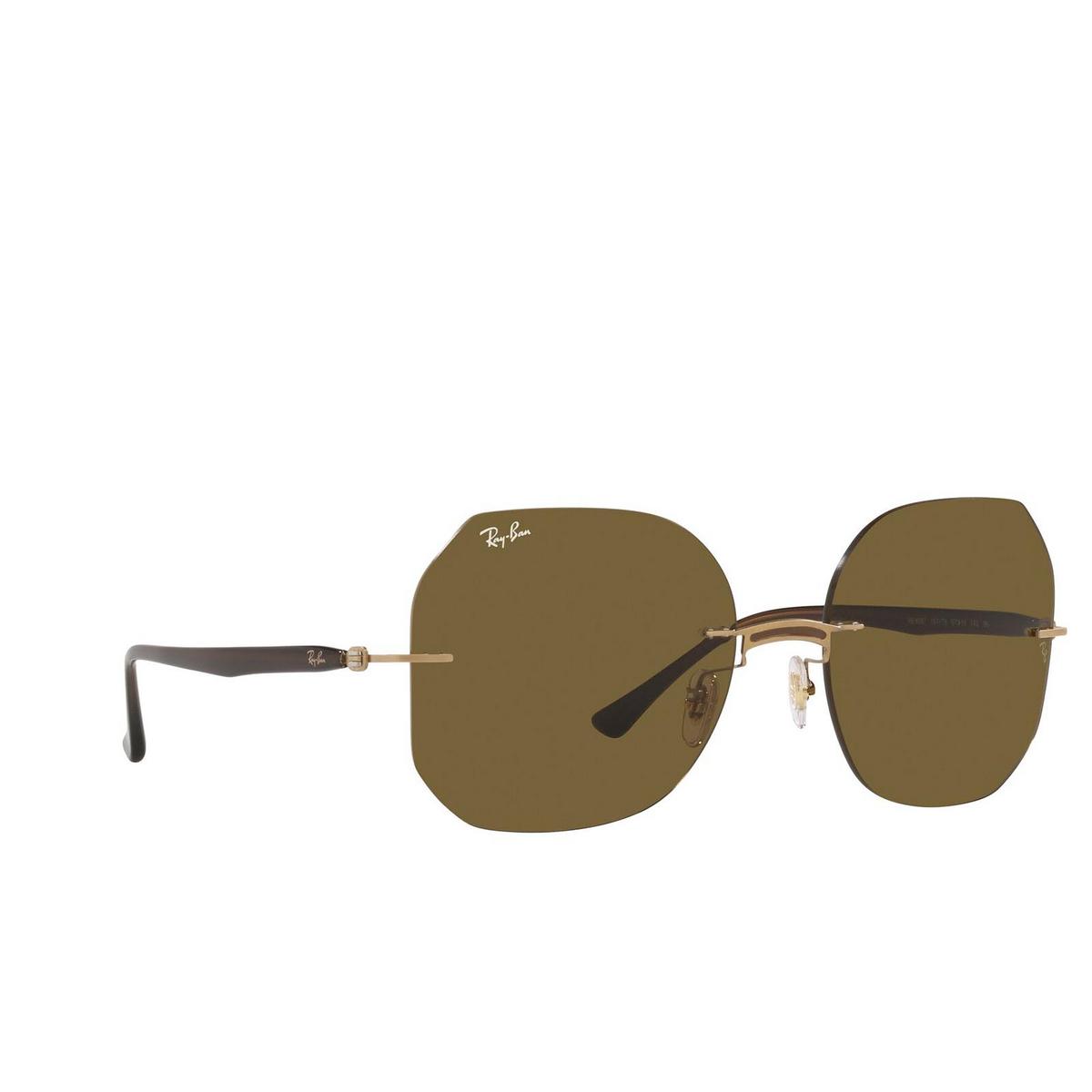 Ray-Ban® Irregular Sunglasses: RB8067 color Brown On Arista 157/73.