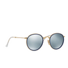 Ray-Ban® Round Sunglasses: Round Folding I RB3517 color Gold 001/30 - product thumbnail 2/3.