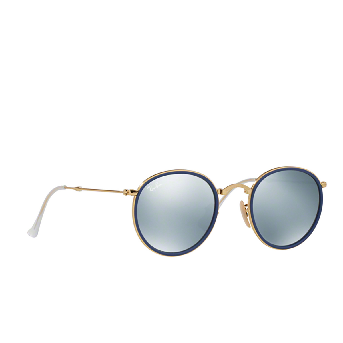 Ray-Ban® Round Sunglasses: Round Folding I RB3517 color Gold 001/30 - 2/3.