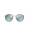 Ray-Ban® Round Sunglasses: Round Folding I RB3517 color Gold 001/30 - product thumbnail 1/3.