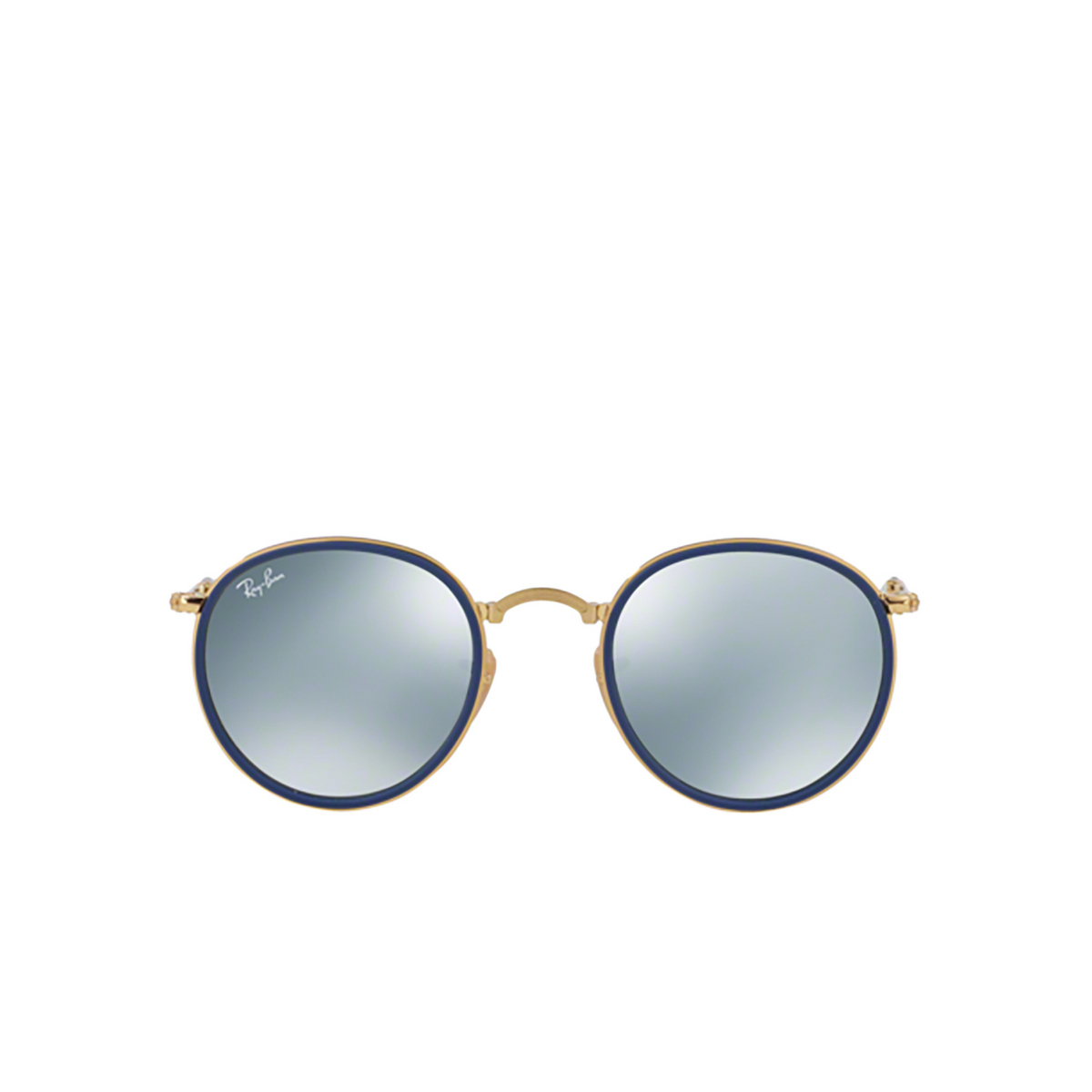 Ray-Ban® Round Sunglasses: Round Folding I RB3517 color Gold 001/30 - 1/3.