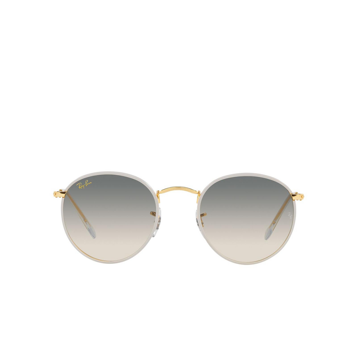 Ray-Ban® Round Sunglasses: Round Full Color RB3447JM color Grey On Legend Gold 919632.