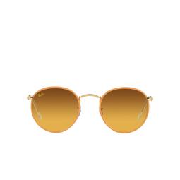 Ray-Ban® Sunglasses: Round Full Color RB3447JM color Orange On A Legend Gold 91963C.
