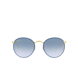 Ray-Ban® Sunglasses: Round Full Color RB3447JM color Light Blue On Legend Gold 91963F.