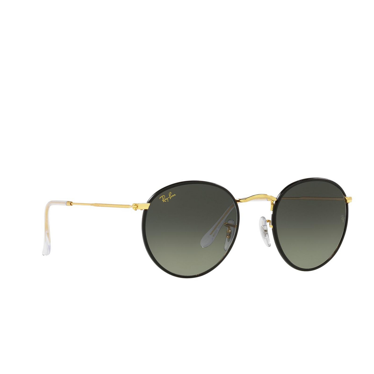 Ray-Ban® Round Sunglasses: Round Full Color RB3447JM color Black On Legend Gold 919671.