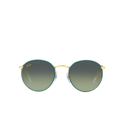 Ray-Ban® Sunglasses: Round Full Color RB3447JM color Petroleum On A Legend Gold 9196BH.
