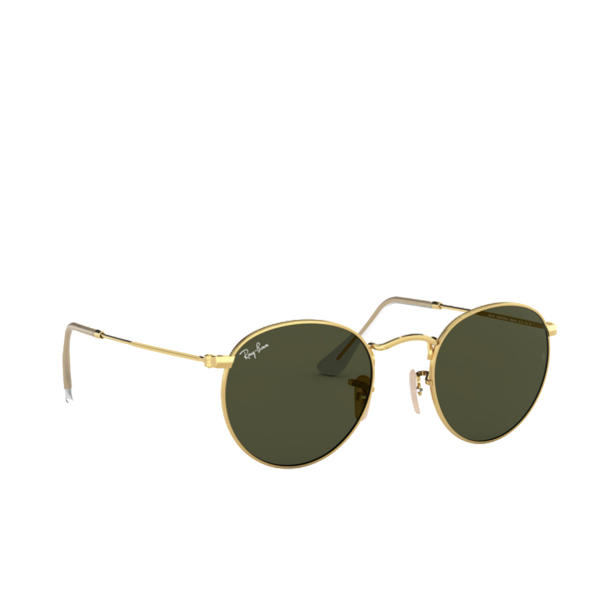 Ray-Ban® Round Sunglasses: Round Metal RB3447 color Arista 001.