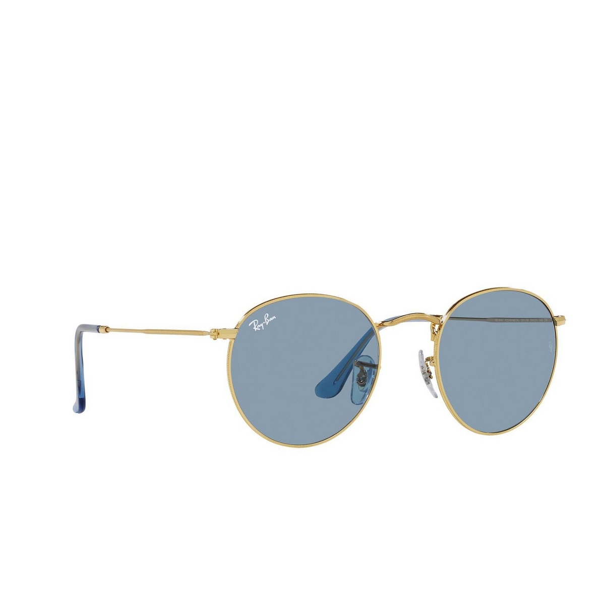 Ray-Ban® Round Sunglasses: Round Metal RB3447 color True Blue 001/56.