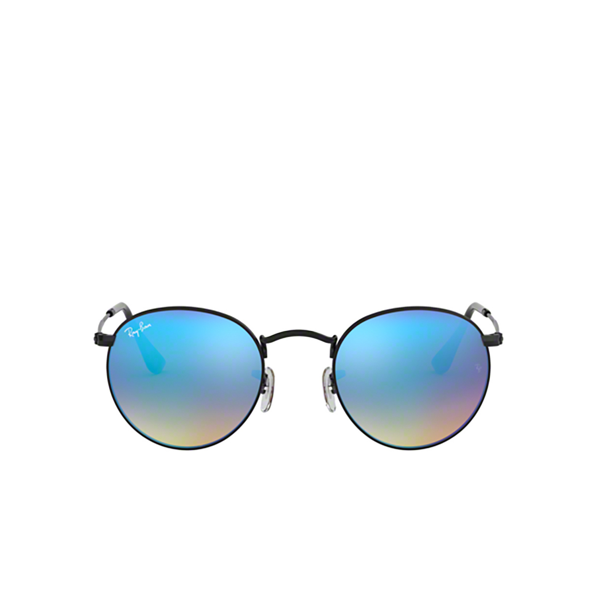 Ray-Ban® Round Sunglasses: Round Metal RB3447 color Black 002/4O.
