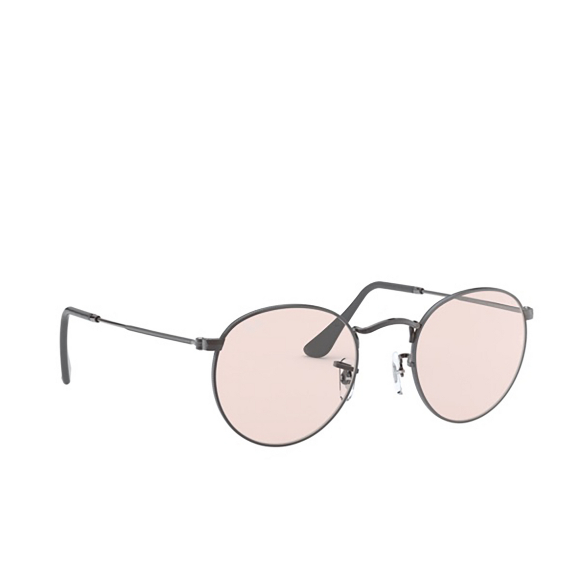 Ray-Ban® Round Sunglasses: Round Metal RB3447 color Gunmetal 004/T5.