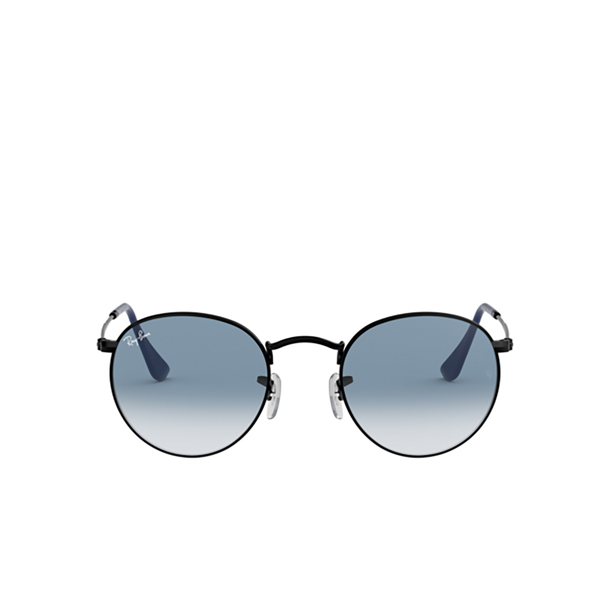 Ray-Ban® Round Sunglasses: Round Metal RB3447 color Matte Black 006/3F.