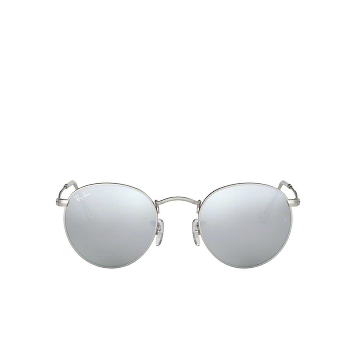 Ray-Ban® Round Sunglasses: Round Metal RB3447 color Matte Silver 019/30.