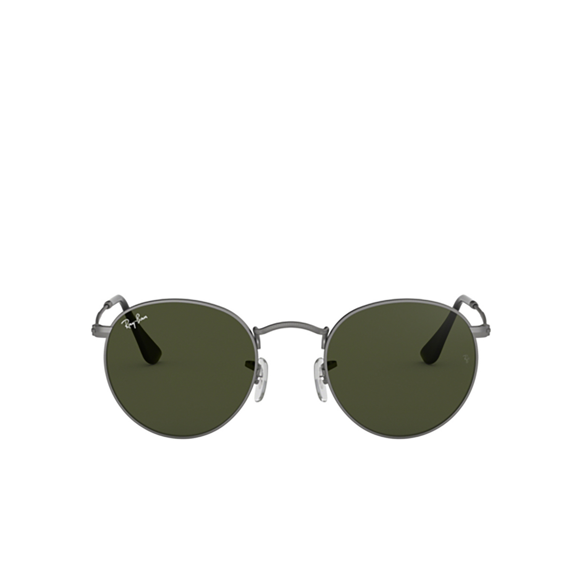 Ray-Ban® Round Sunglasses: Round Metal RB3447 color Matte Gunmetal 029.