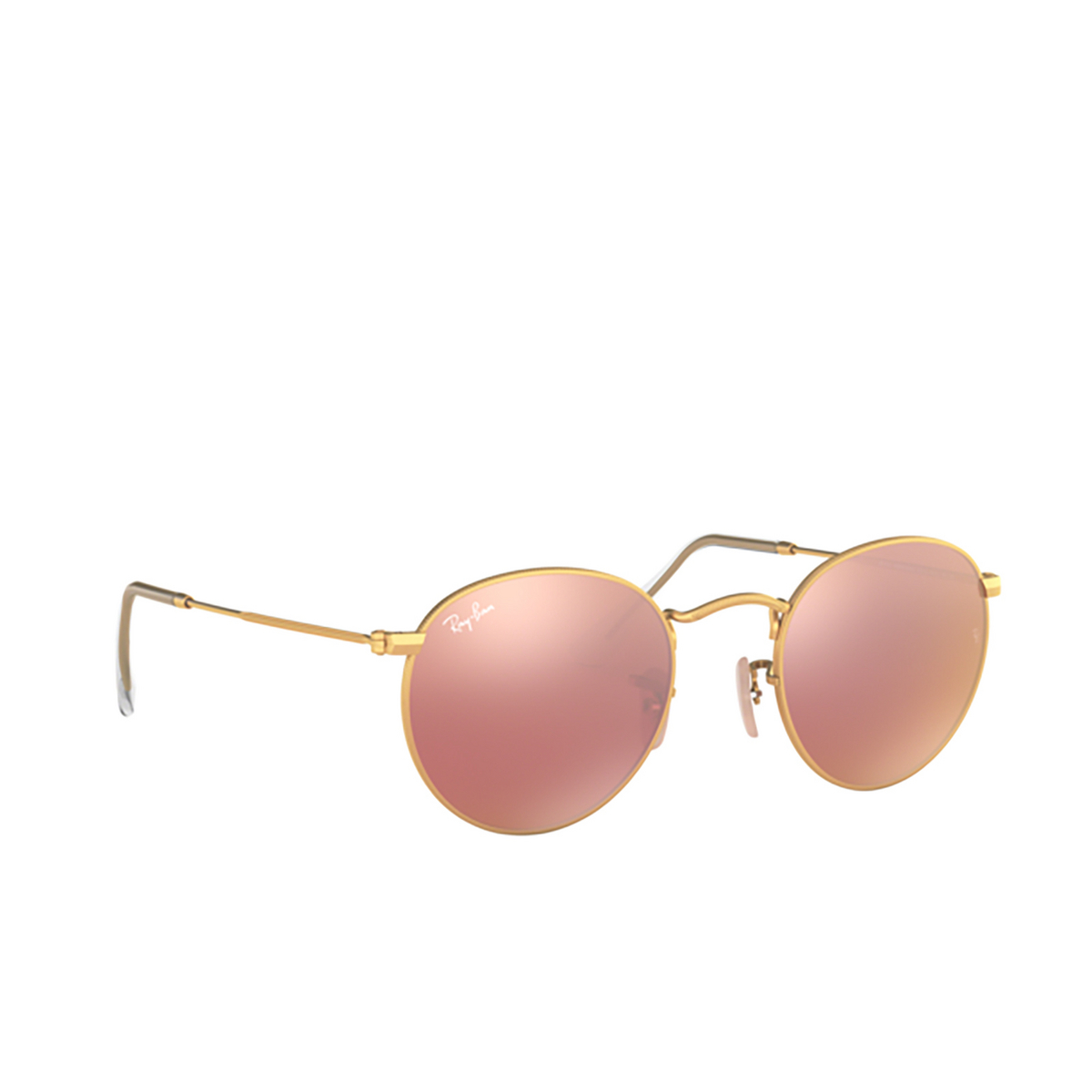 Ray-Ban® Round Sunglasses: Round Metal RB3447 color Matte Arista 112/Z2.