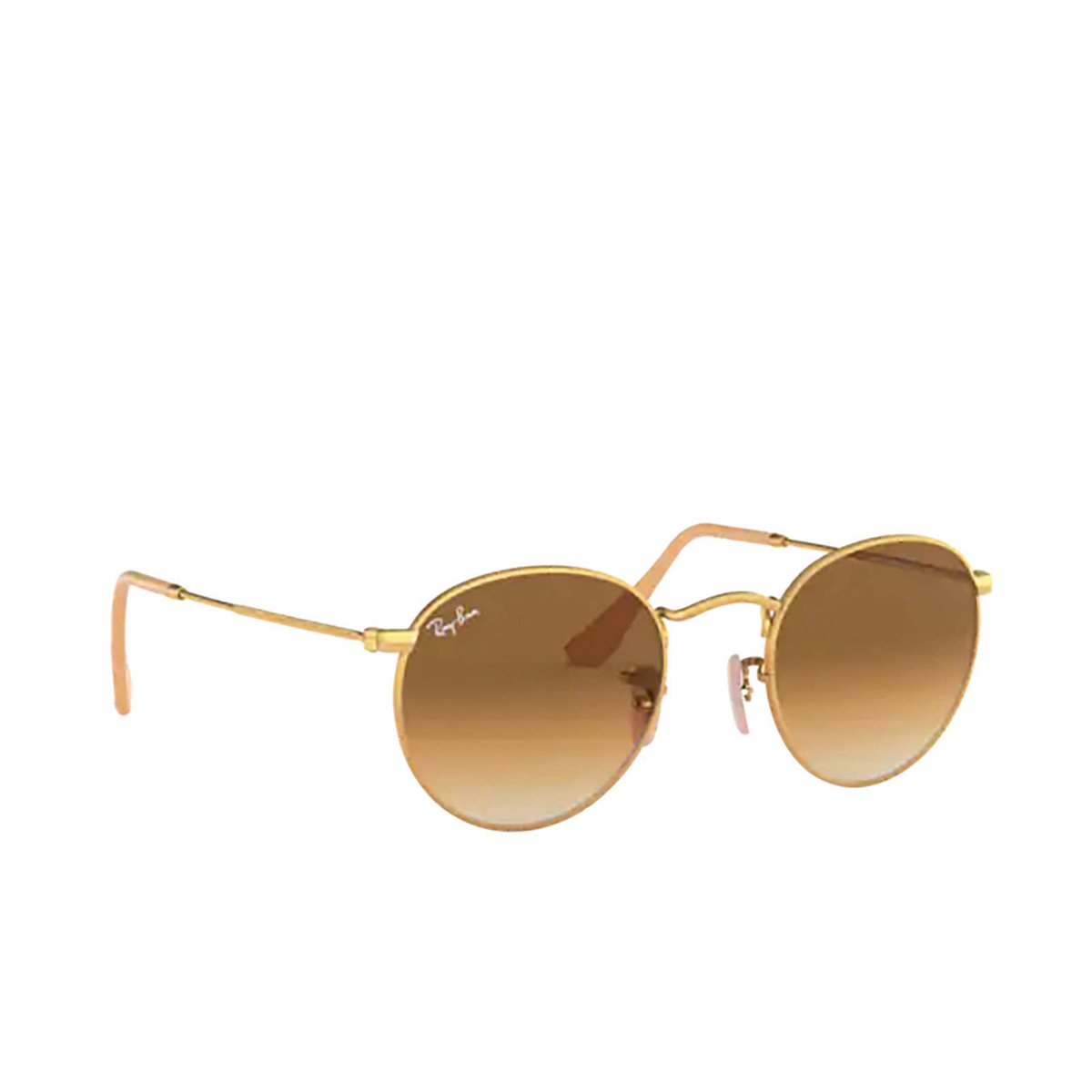 Ray-Ban® Round Sunglasses: Round Metal RB3447 color Matte Arista 112/51 - three-quarters view.