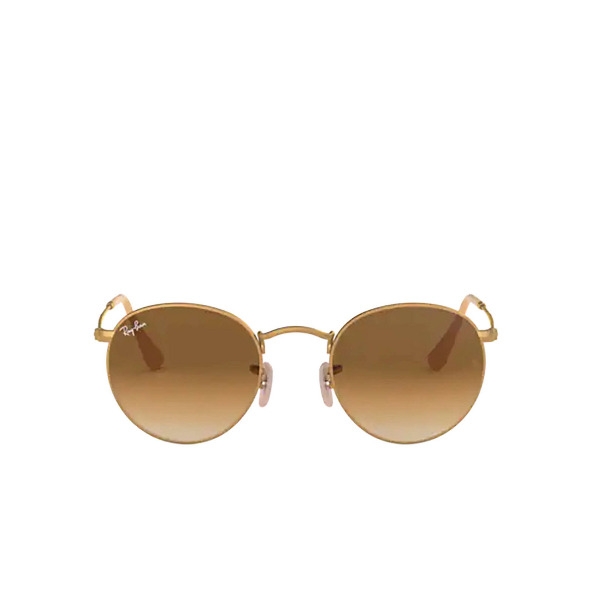 Ray-Ban® Round Sunglasses: Round Metal RB3447 color Matte Arista 112/51 - front view.