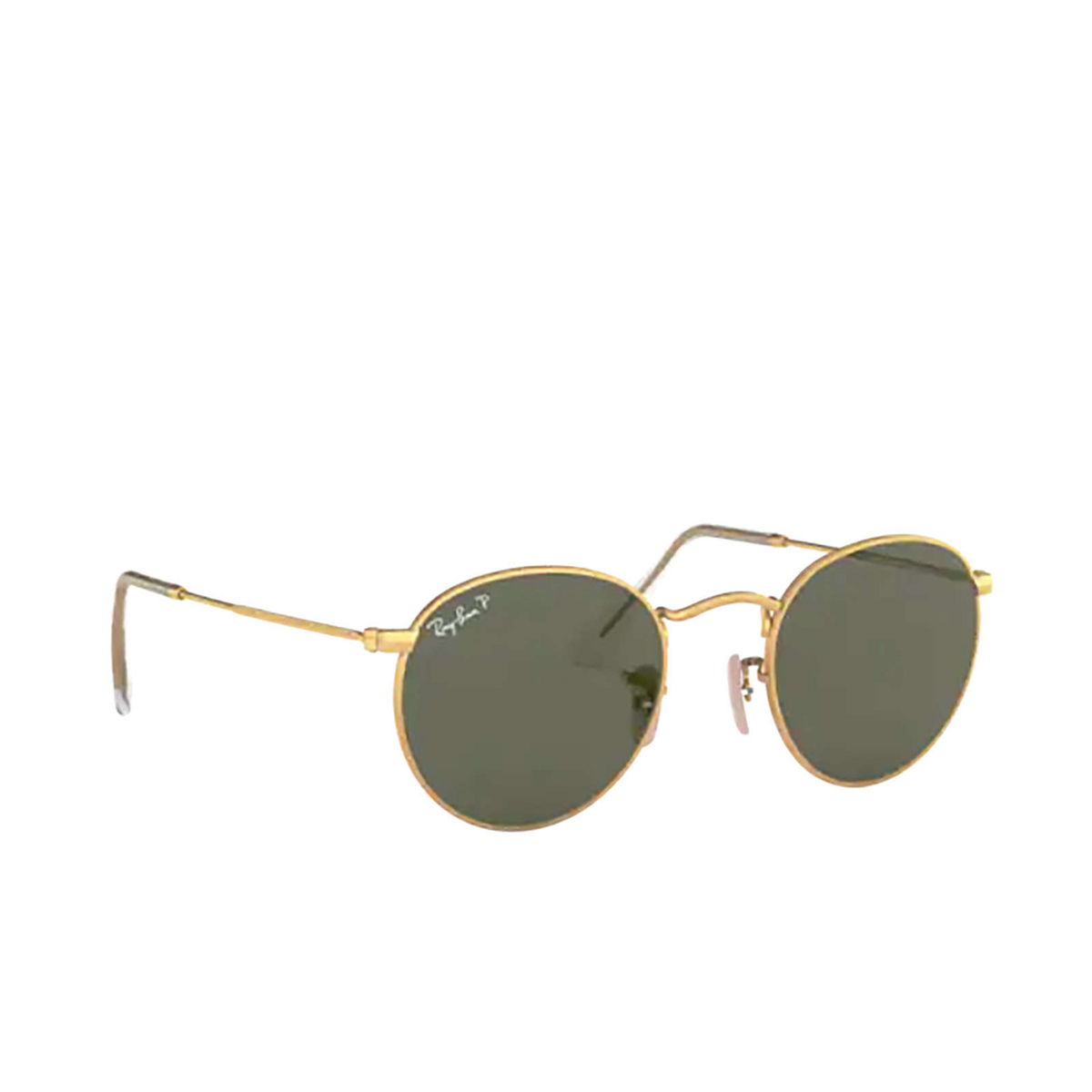 Ray-Ban® Round Sunglasses: Round Metal RB3447 color Matte Arista 112/58 - three-quarters view.