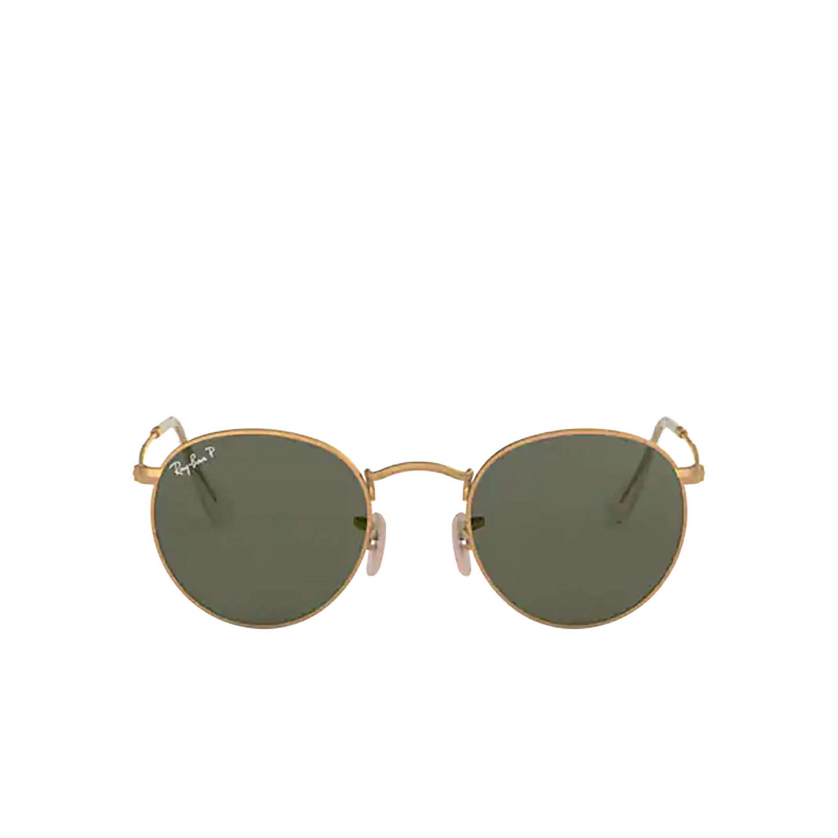 Ray-Ban® Round Sunglasses: Round Metal RB3447 color Matte Arista 112/58 - front view.