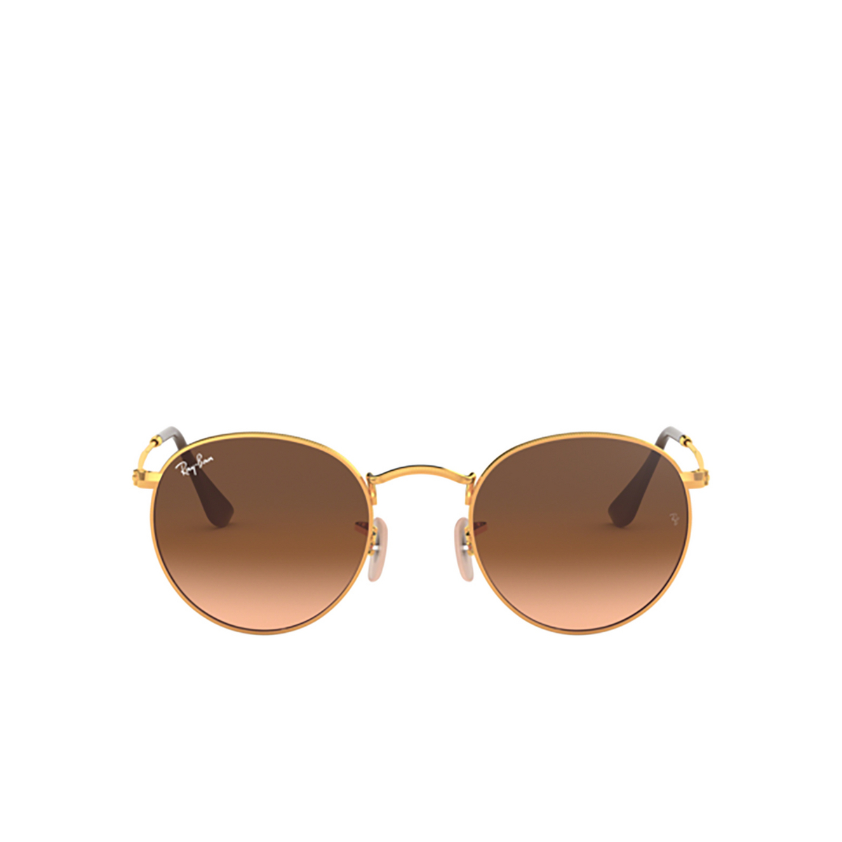 Ray-Ban® Round Sunglasses: Round Metal RB3447 color Light Bronze 9001A5.