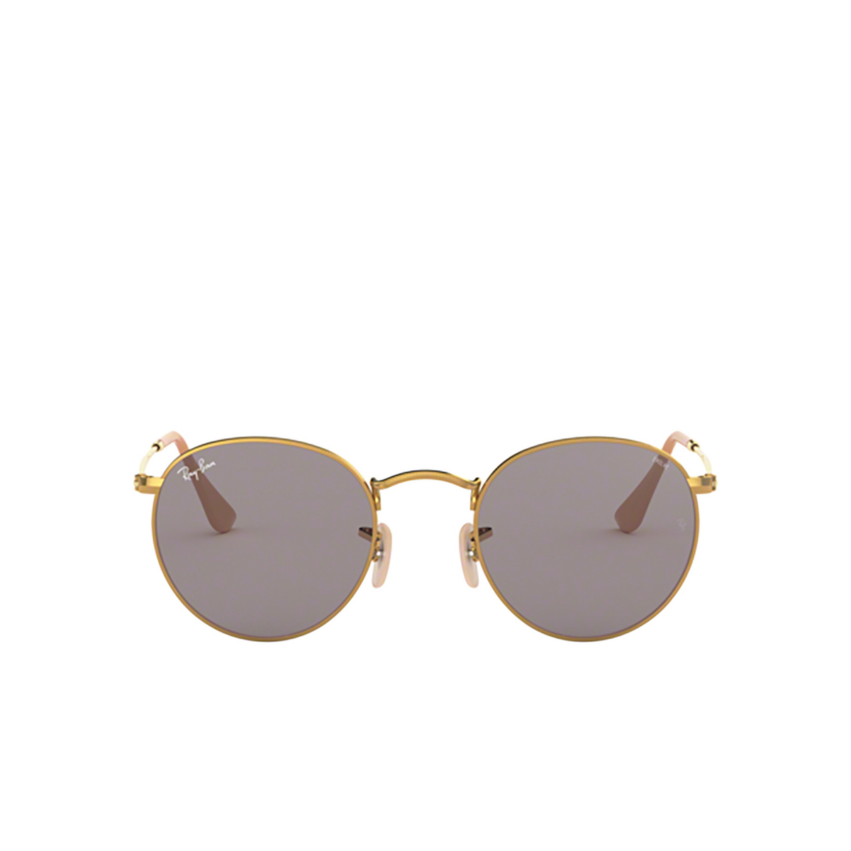 Ray-Ban® Round Sunglasses: Round Metal RB3447 color Arista 9064V8 - front view.