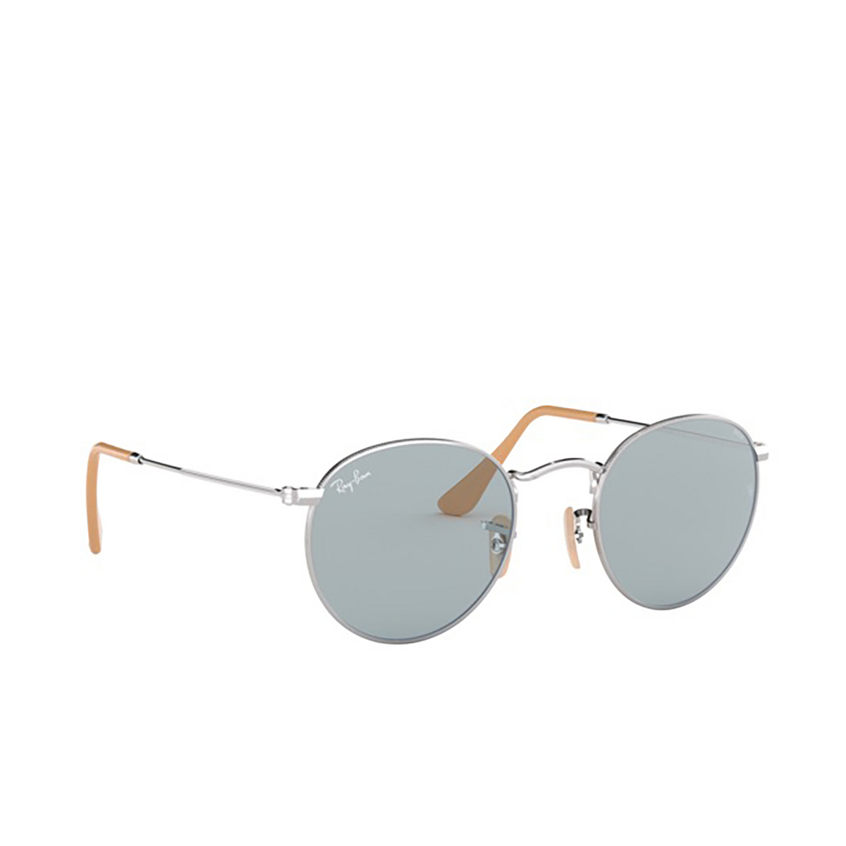 Ray-Ban® Round Sunglasses: Round Metal RB3447 color Silver 9065I5.