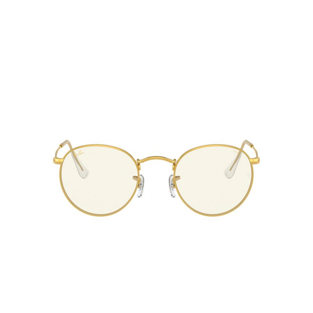 Ray-Ban® Round Sunglasses: Round Metal RB3447 color Legend Gold 9196BL.