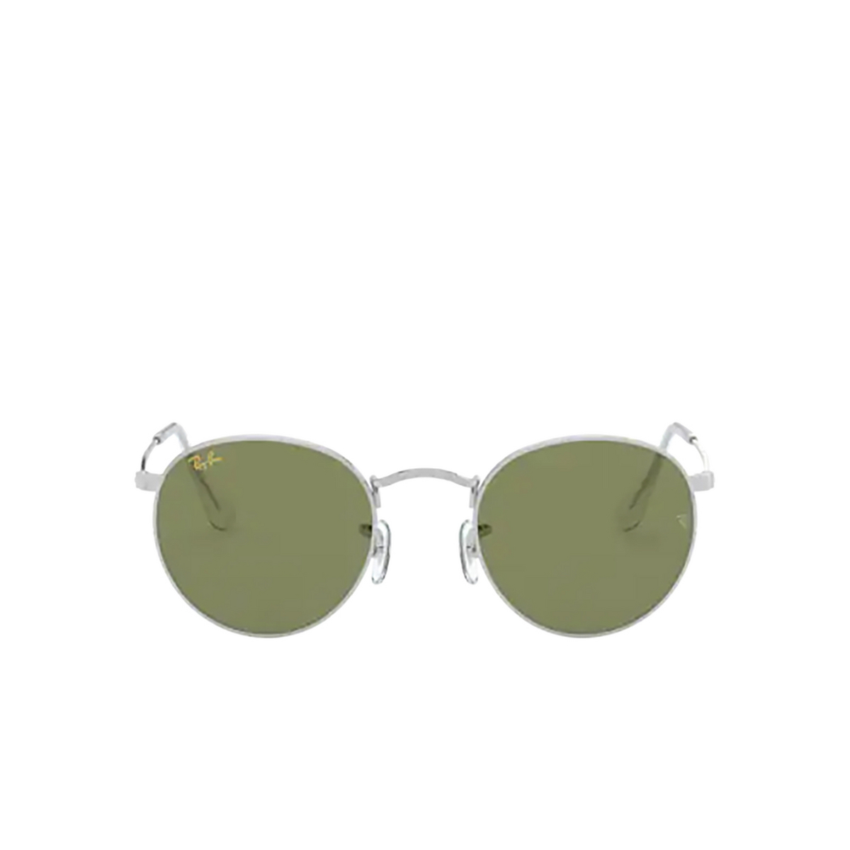 Ray-Ban® Round Sunglasses: Round Metal RB3447 color Silver 91984E.