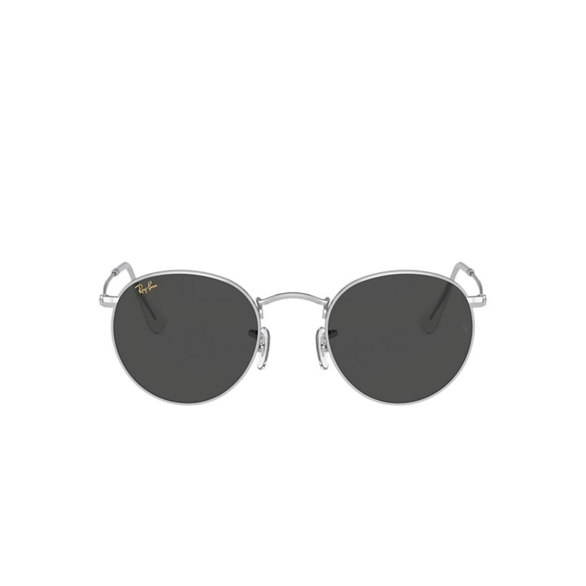 Ray-Ban® Round Sunglasses: Round Metal RB3447 color Silver 9198B1.