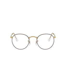 Ray-Ban® Eyeglasses: Round Metal RX3447V color Blue On Legend Gold 3105.