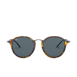 Ray-Ban® Sunglasses: Round RB2447 color Spotted Blue Havana 1158R5.