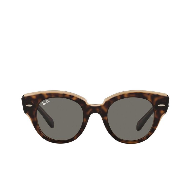 Ray-Ban® Round Sunglasses: Roundabout RB2192 color Havana On Transparent Brown 1292B1.