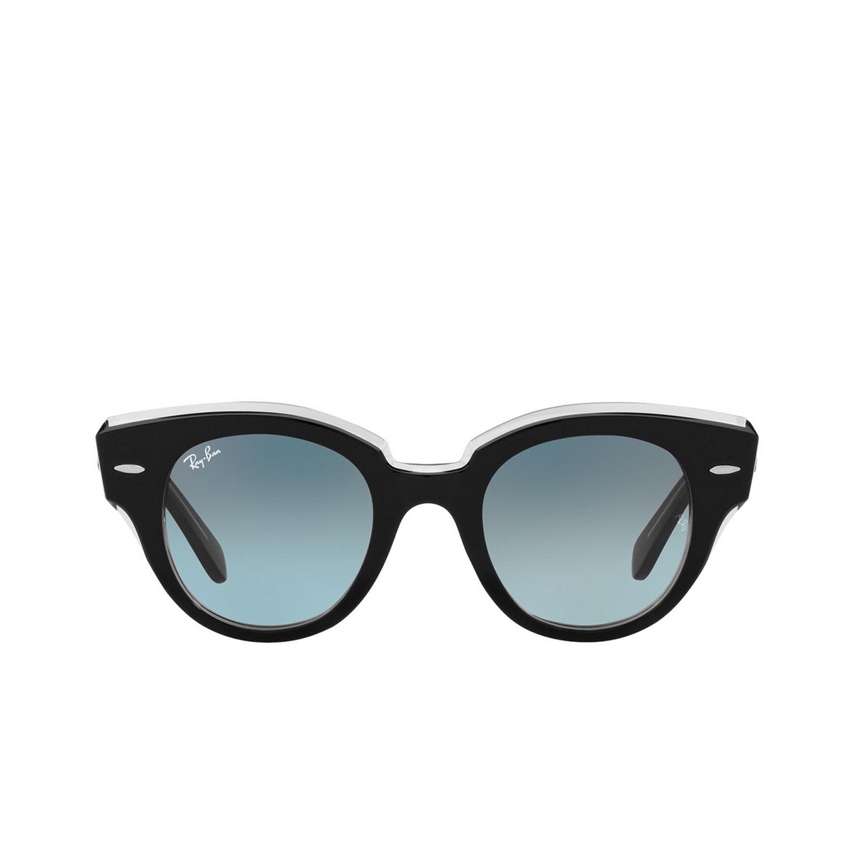 Ray-Ban® Round Sunglasses: Roundabout RB2192 color Black On Transparent 12943M.