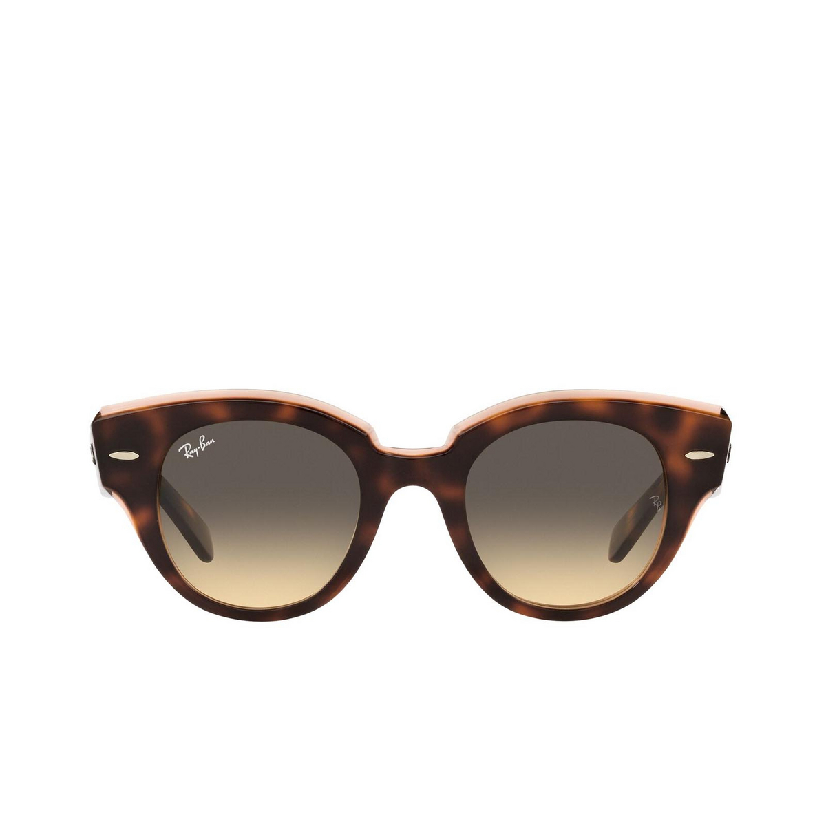 Ray-Ban® Round Sunglasses: Roundabout RB2192 color Havana On Transparent Pink 1324BG.