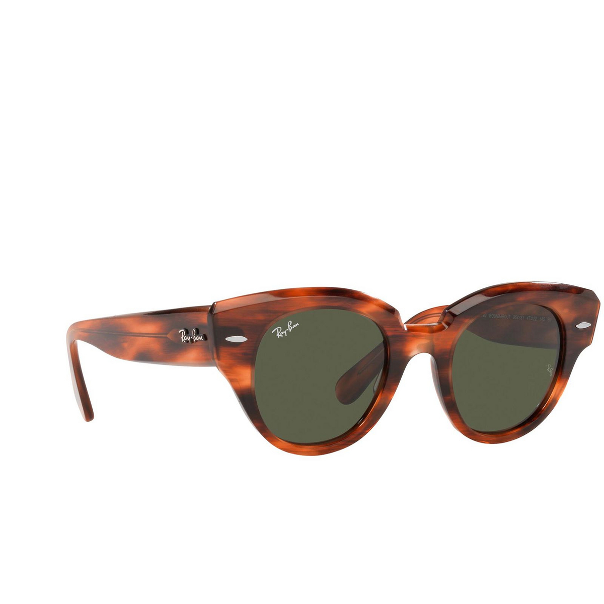 Ray-Ban® Round Sunglasses: Roundabout RB2192 color Striped Havana 954/31.