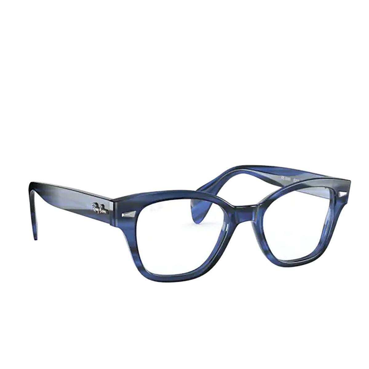 Ray-Ban® Square Eyeglasses: RX0880 color Striped Blue 8053.