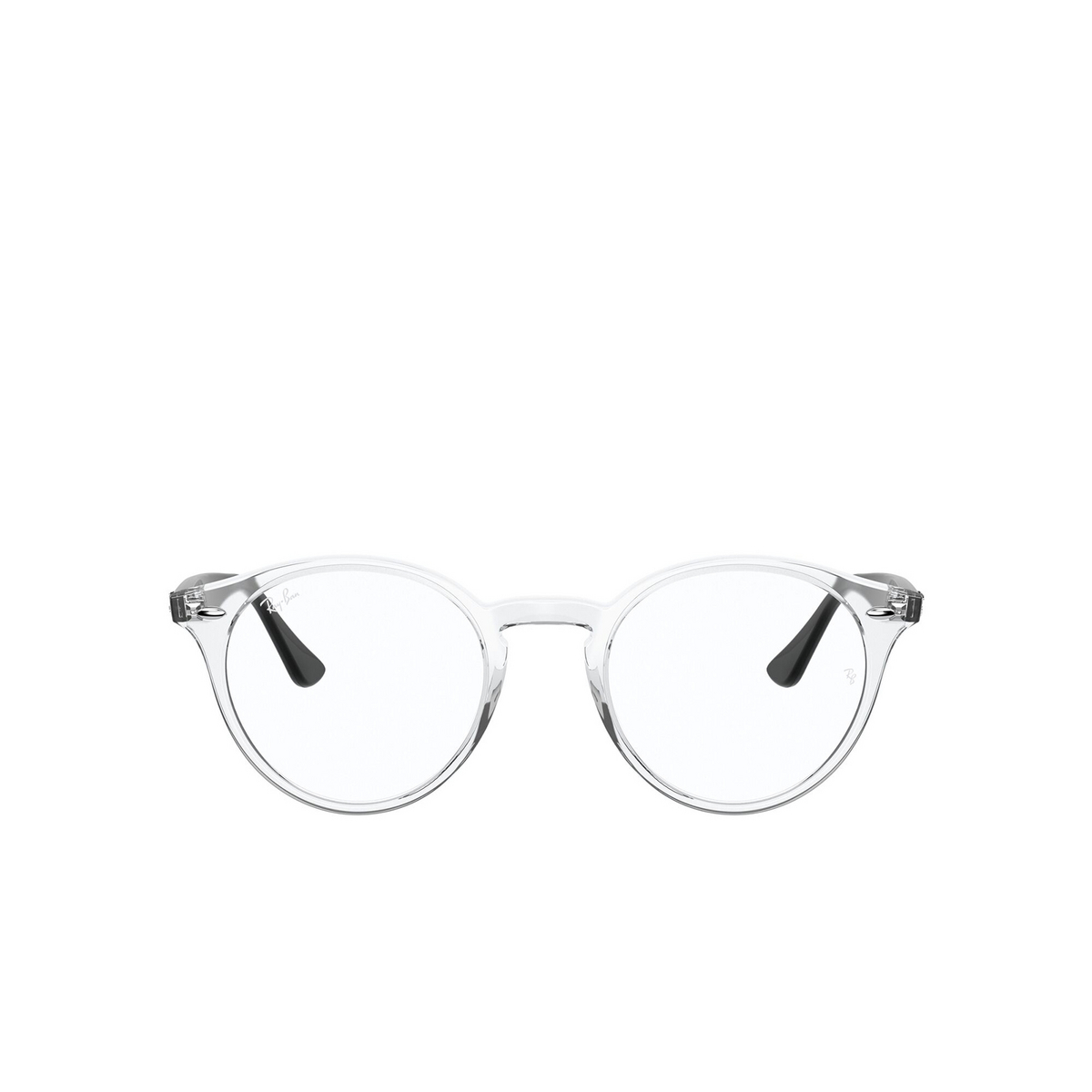 Ray-Ban® Round Eyeglasses: RX2180V color Transparent 5943 - front view.