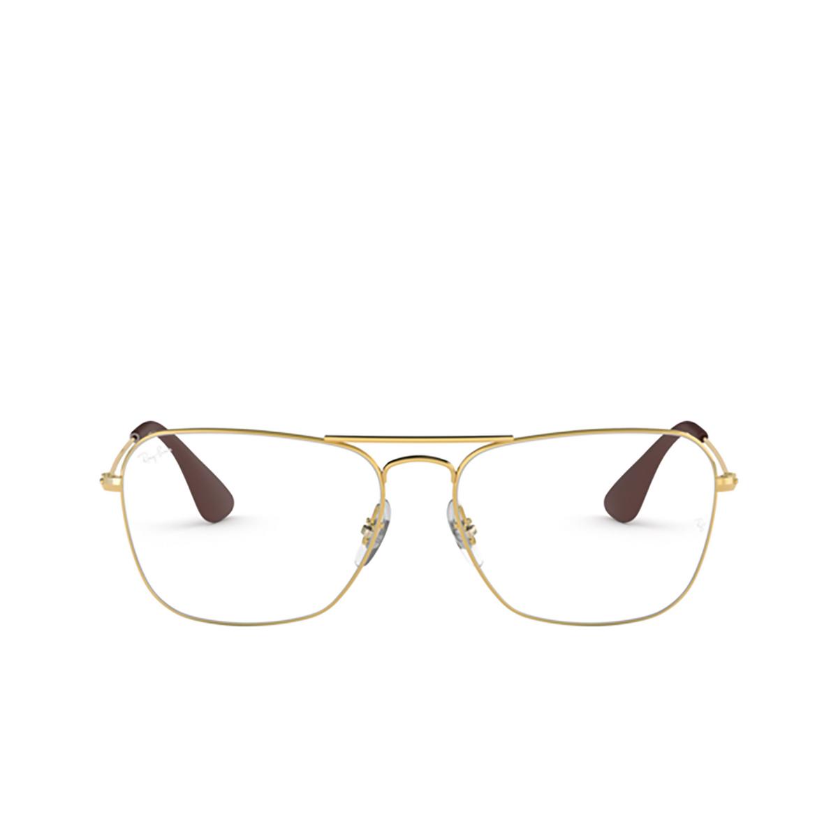 Ray-Ban® Aviator Eyeglasses: RX3610V color Gold 2500.