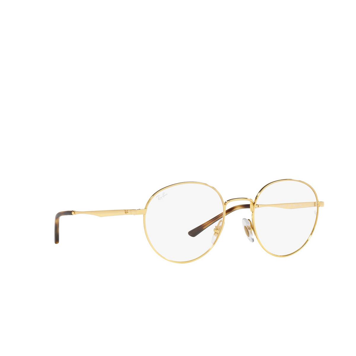 Ray-Ban® Round Eyeglasses: RX3681V color Arista 2500 - three-quarters view.