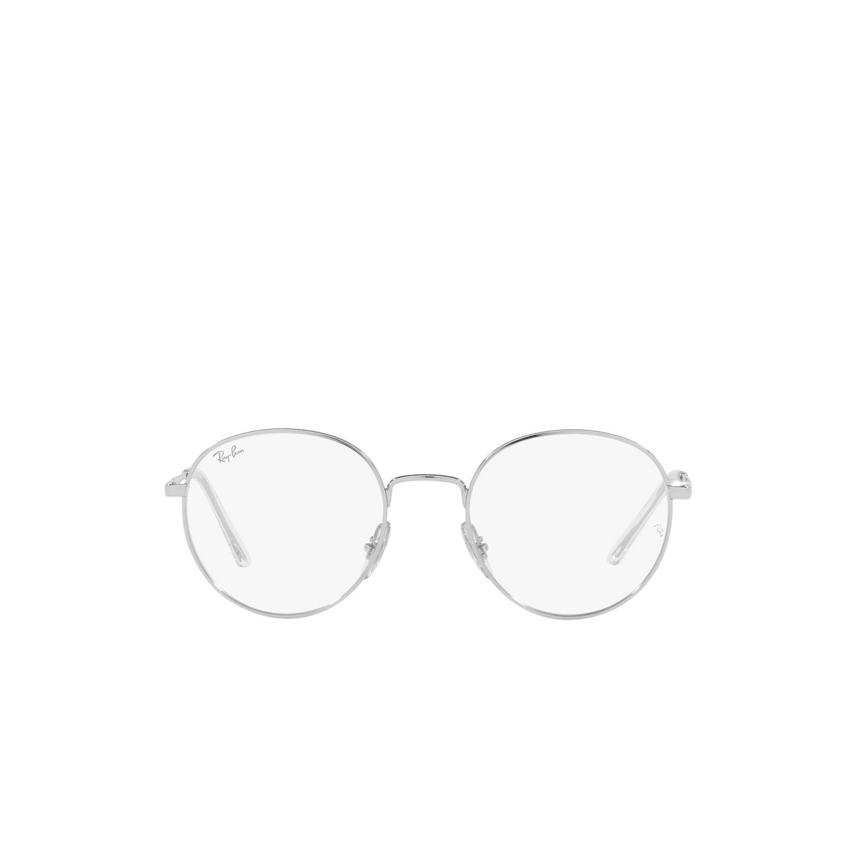 Ray-Ban® Round Eyeglasses: RX3681V color Silver 2501 - front view.