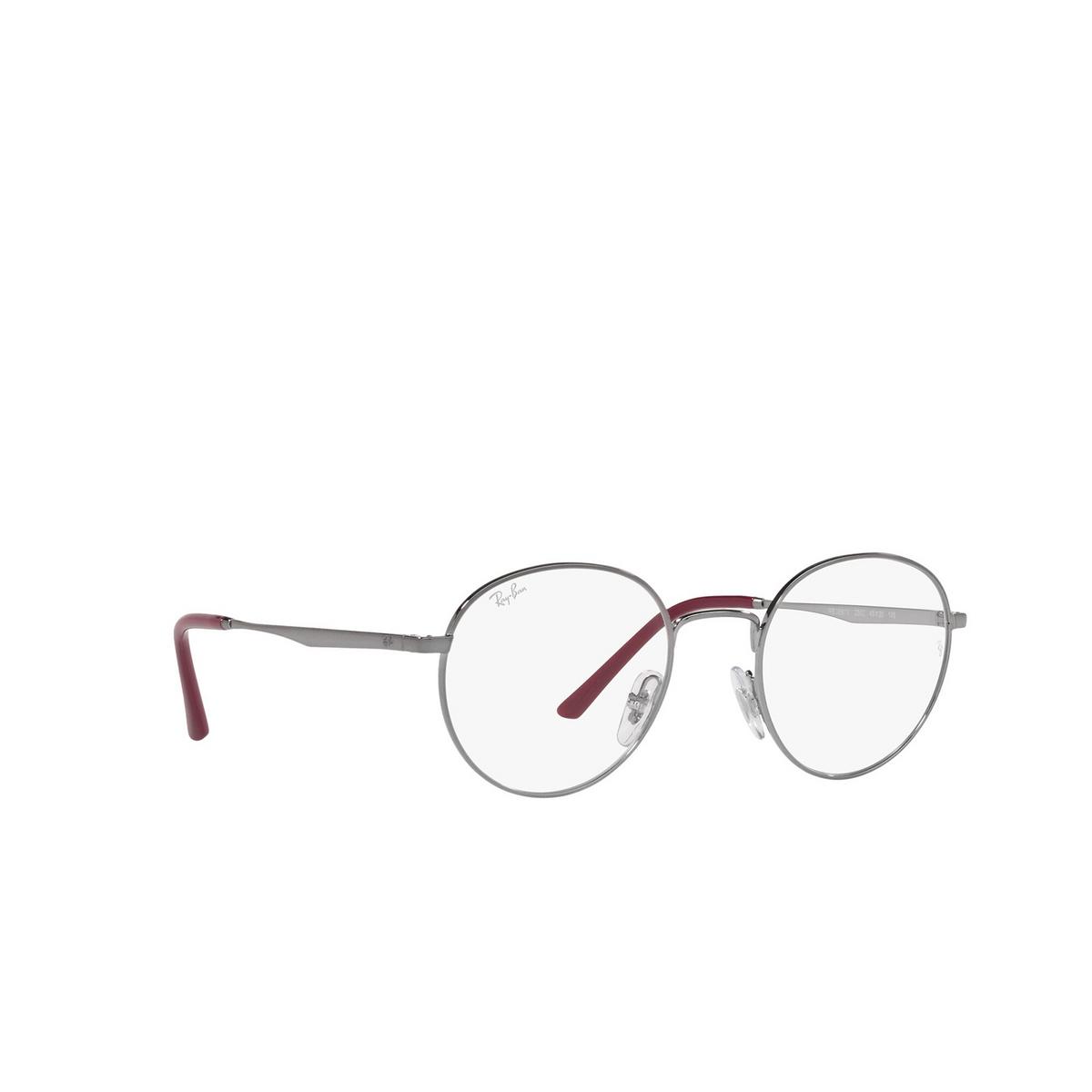 Ray-Ban® Round Eyeglasses: RX3681V color Gunmetal 2502 - three-quarters view.
