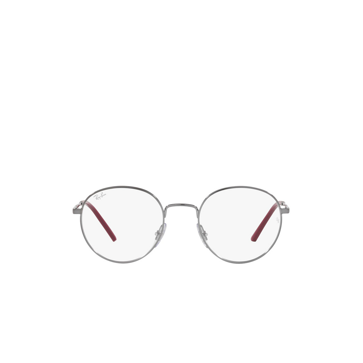 Ray-Ban® Round Eyeglasses: RX3681V color Gunmetal 2502 - front view.