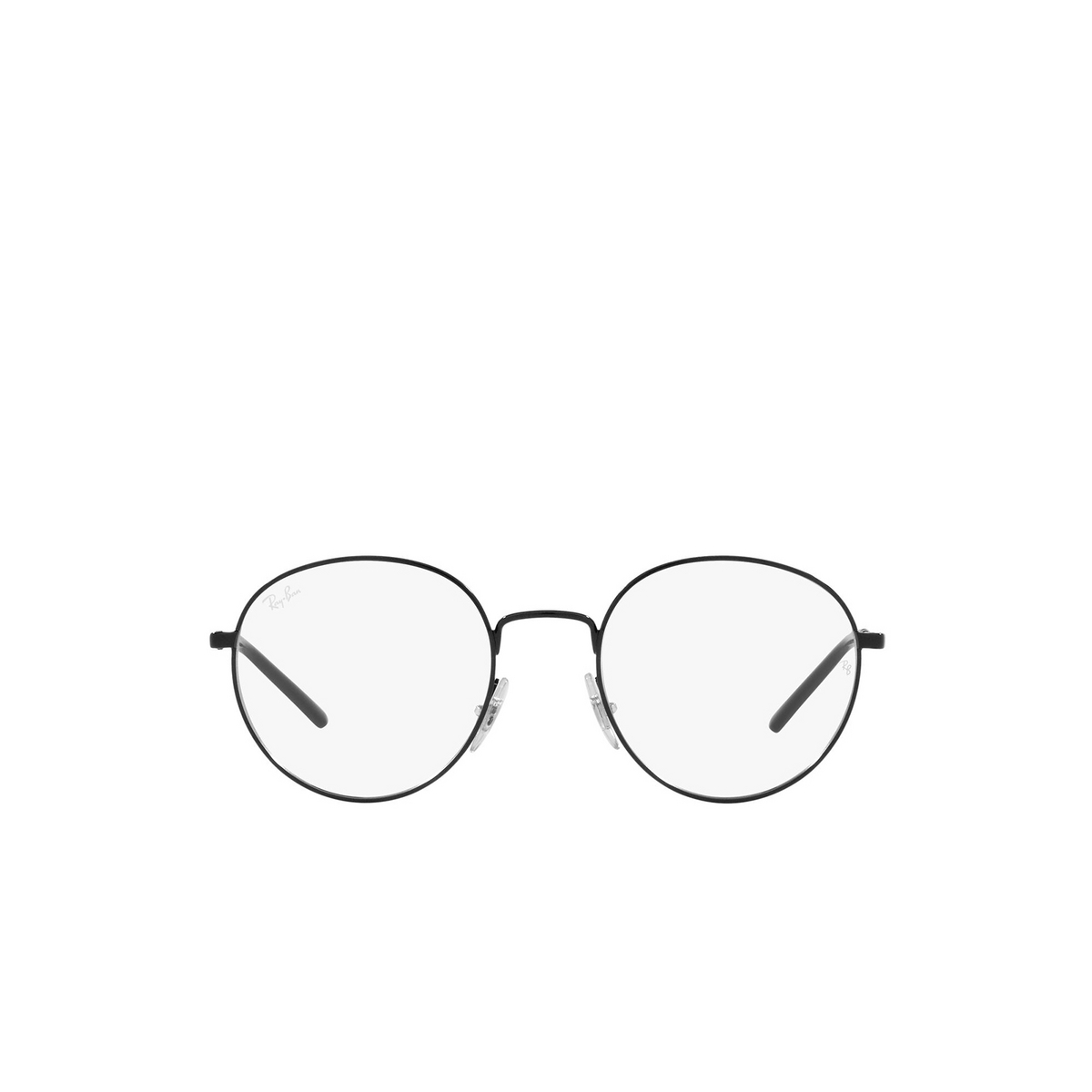 Ray-Ban® Round Eyeglasses: RX3681V color Black 2509 - front view.