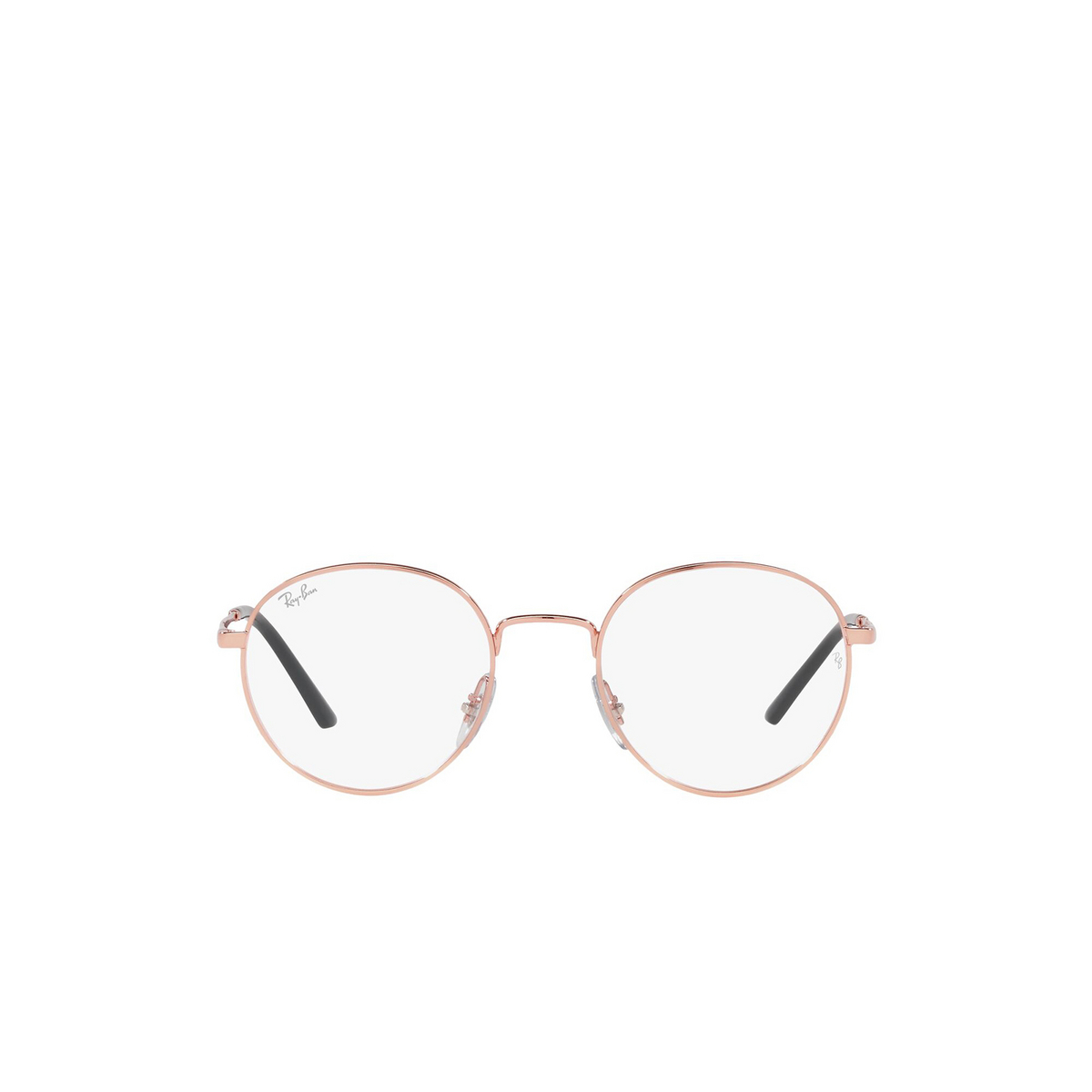 Ray-Ban® Round Eyeglasses: RX3681V color Rose Gold 3094 - front view.